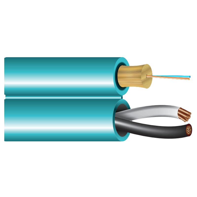 Cleerline Siamese 18AWG plus 2 Multi-mode Fiber