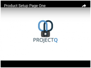 Product Setup (pg1) Video