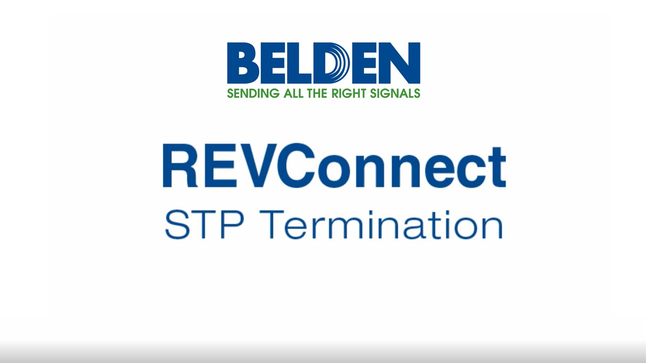 Belden REVConnect RJ-45 Termination System - Future Ready Solutions